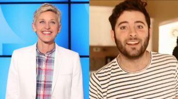 Ellen DeGeneres aceptó reto de joven diagnosticado con ELA