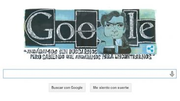 Google recuerda los 100 años de Julio Cortázar con un 'doodle'