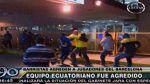 Así fue la pelea entre plantel de Barcelona y vándalos peruanos - Noticias de barcelona de ecuador