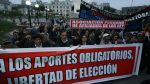 Protestaron contra aporte obligatorio a las AFP y ONP [Fotos] - Noticias de sistema nacional de pensiones