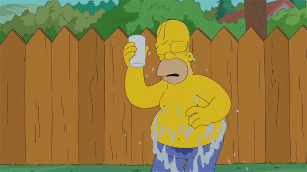 Homero Simpson aceptó el reto del Ice Bucket Challenge