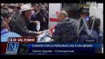 Cusco: camión vuelca y deja más de 30 heridos - Noticias de accidentes de transito