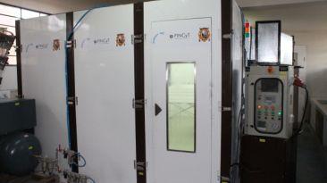 Una cabina móvil ecológica reduce el tiempo de pintado