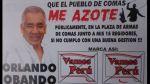 Candidato pide que lo azoten si no cumple promesas de campaña - Noticias de afiches