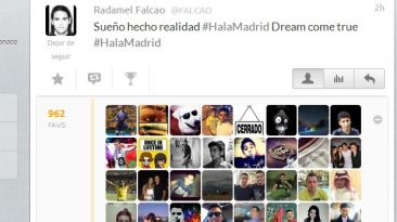 El #HalaMadrid de Falcao sí fue publicado desde su cuenta