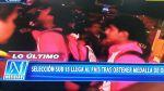 La Sub 15 arribó a Lima tras ganar el oro en Nanjing 2014 - Noticias de aeropuerto internacional jorge chávez