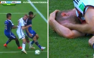 Así fue el golpe del alemán que no recordará final del Mundial