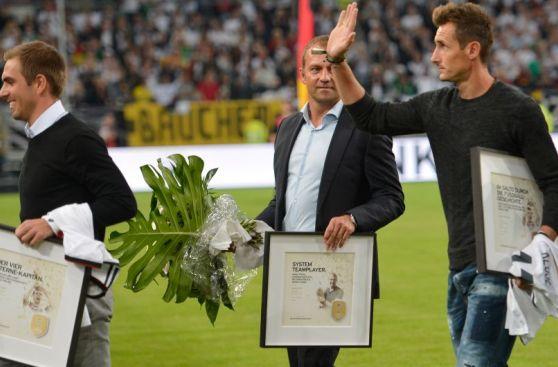 Alemania homenajeó a los campeones del mundo en Düsseldorf