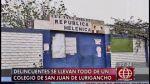 SJL: ladrones asaltaron humilde colegio de educación inicial - Noticias de