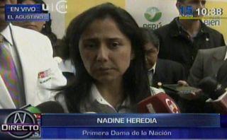 Nadine dijo que Humala no conocía pasado senderista de Romero