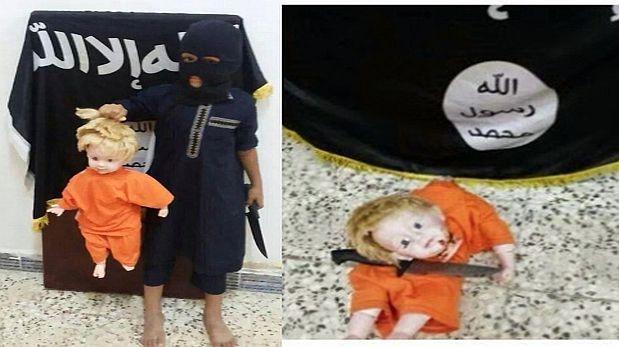 Estado Islámico enseña a los niños a decapitar usando muñecas