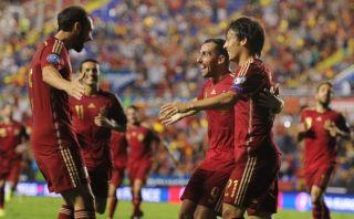 Vicente Del Bosque se mostró feliz con la goleada de España