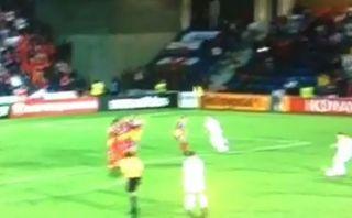 Gareth Bale marcó un golazo de tiro libre y celebró a lo CR7