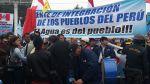 Unas 500 personas protestan contra privatización de Sedapal - Noticias de sedapal