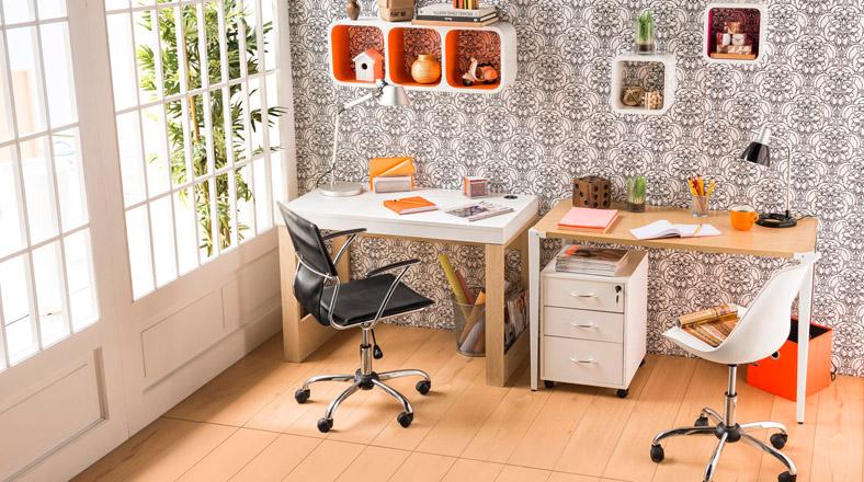 Cinco ideas de sillas de escritorio para trabajar con for Sillas de escritorio sodimac