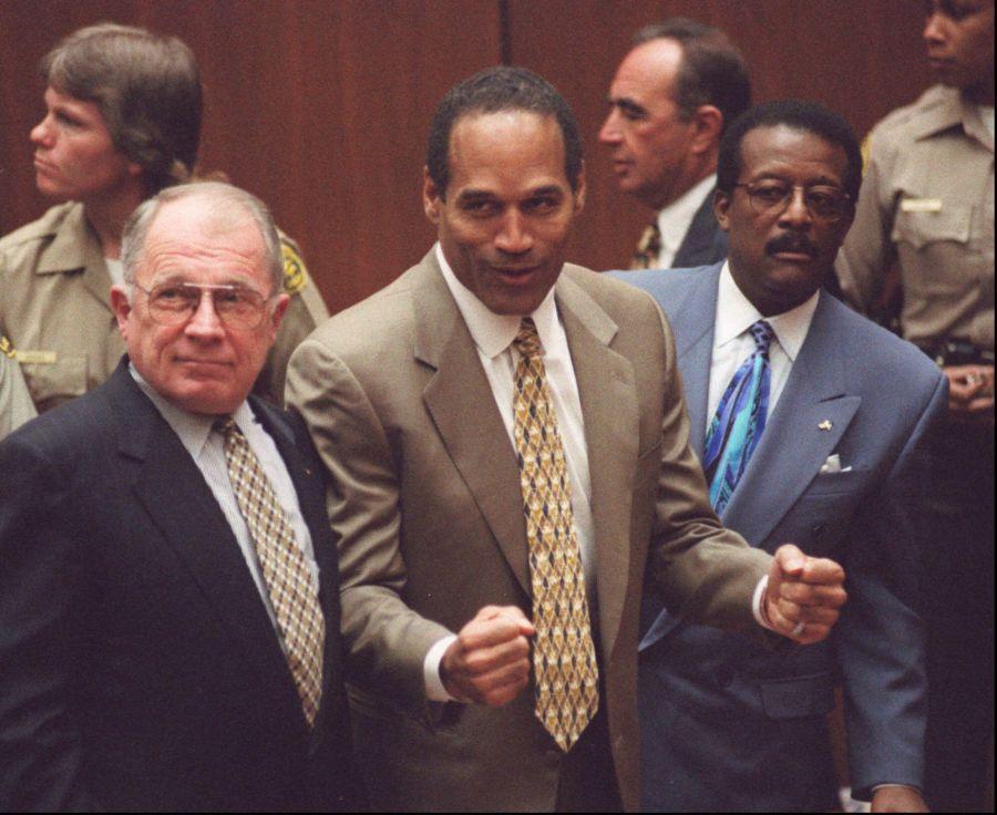 Simpson después de haber sido declarado inocente el 3 de octubre de 1995. (Foto: AP)