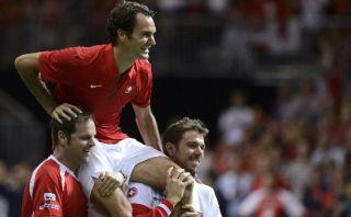 ¿El que le falta? Federer lleva a Suiza a la final de la Davis