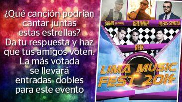 Gana entradas dobles para el Lima Music Fest 2014