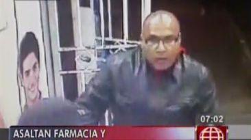 Delincuentes asaltan botica pero sus rostros quedan grabados