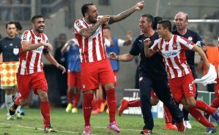 Olympiacos dio el golpe: venció 3-2 al Atlético de Madrid