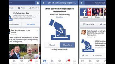 Facebook activa botón para promover el referéndum de Escocia
