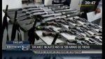 Sucamec confiscó 504 armas en Cusco, Trujillo y Piura - Noticias de sucamec