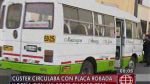 Cúster con placa robada debía más de 105 mil soles en papeletas - Noticias de avenida perú