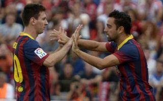 """Xavi: """"¿Messi? No sé si hay algún caso parecido, quizá Pelé"""""""