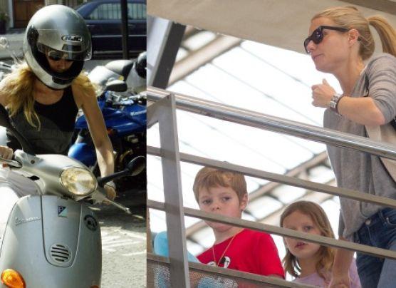 Piden a Gwyneth Paltrow que no lleve a sus hijos en moto