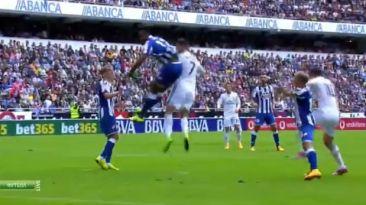 Mira el golazo de cabeza que anotó Cristiano a La Coruña