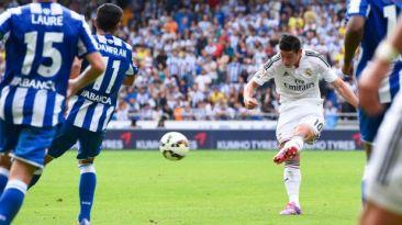 El primer gol de James Rodríguez en la Liga fue una 'pinturita'