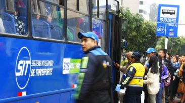 Corredor azul: modificarán paradero final de Miraflores