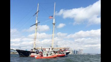 Barco con 121 turistas encalló junto a Estatua de la Libertad
