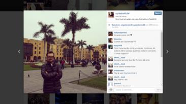 Aleks Syntek se paseó por el Centro de Lima