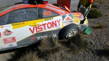 Así quedó auto de Mario Hart tras accidente en Caminos del Inca