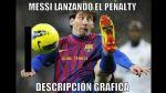Memes a Messi por su penal fallado y asistencias con el Barza - Noticias de