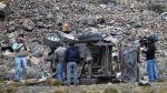 Tres muertos dejó el despiste de una camioneta en Andahuaylas - Noticias de vuelco
