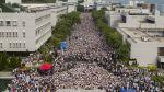 Más de 10 mil jóvenes marchan por la democracia en Hong Kong - Noticias de huelga