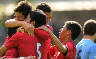 Selección peruana Sub 20 venció 2-1 a Uruguay en amistoso