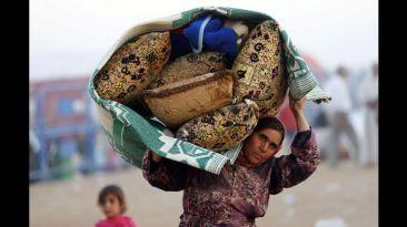Los kurdos que huyen del arrollador avance del Estado Islámico