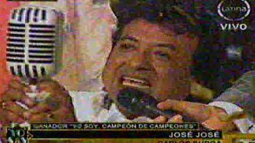 """""""Yo soy, campeón de campeones"""": José José ganó el 'reality'"""