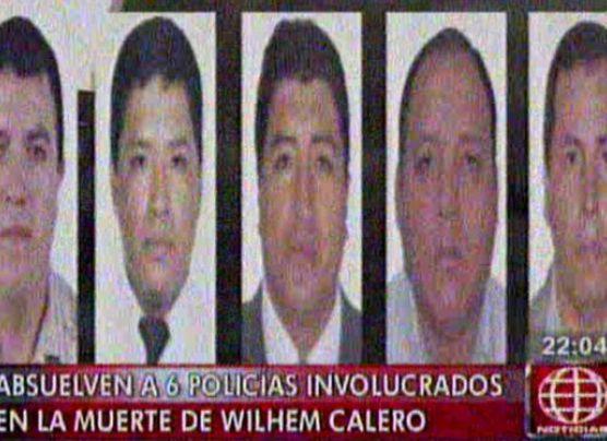 Caso Wilhem Calero: absuelven a policías acusados de asesinato