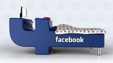 Diseñan una cama para adictos a Facebook