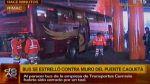 Bus se estrelló contra columna de puente Caquetá esta madrugada - Noticias de accidente de tránsito