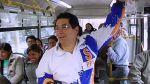 Salvador Heresi cantó en el Metropolitano en busca de votos - Noticias de