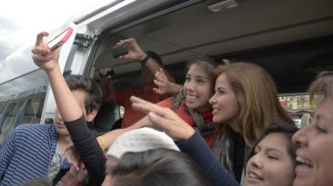 Gloria Trevi llegó al Cusco y grabará escenas para su 'reality'