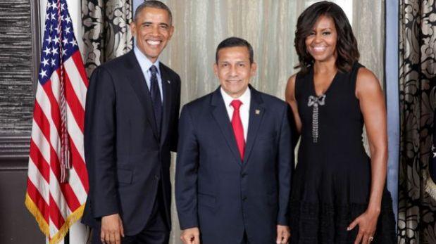Ollanta Humala sostuvo reunión con los Obama en Nueva York