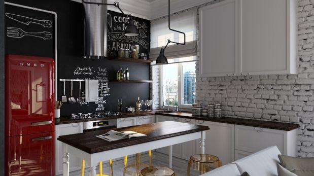 Una cocina con sabor r stico e industrial decoraci n for Cocina decoracion industrial