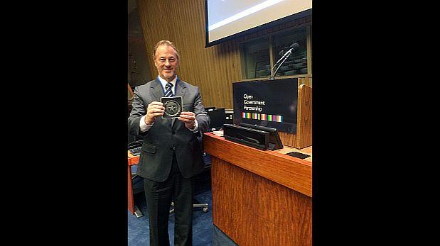 El alcalde recibió el premio en la sede de las Naciones Unidas, en Nueva York (Foto: Municipalidad de Miraflores)