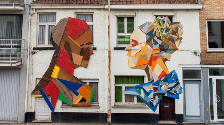Estos llamativos murales se crearon con madera reciclada foto galeria 1 de 3 el comercio peru - Murales de madera ...